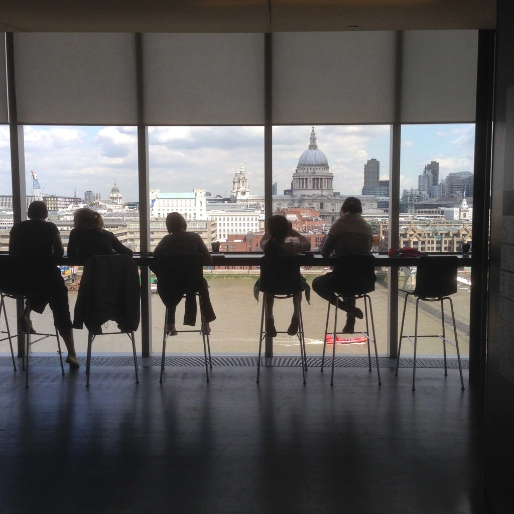 London skyline from Tate Modern overlooking our direct mail marketing test site