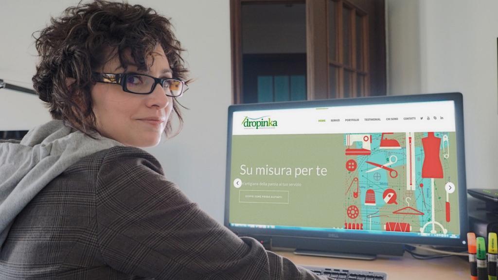 Claudia Benetello at her desk