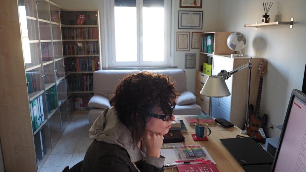 Claudia Benetello at work at Dropinka