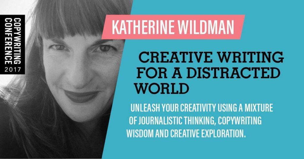 Image shows the promotional image of katherine wildman at #copycon17 the copywriting conference 2017