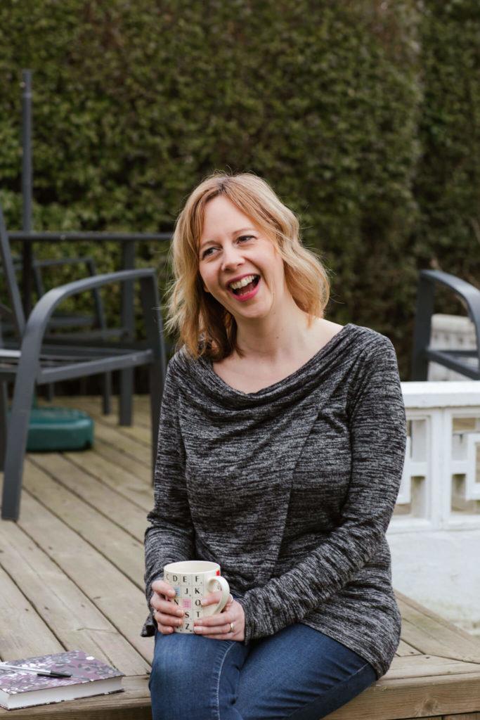 Copywriter Jenny Catton with her favourite Scrabble mug